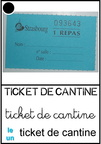Ticket de cantine
